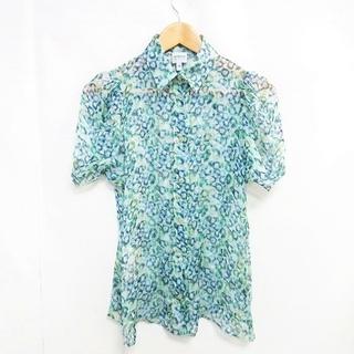 アルマーニ コレツィオーニ(ARMANI COLLEZIONI)のアルマーニ コレツィオーニ  美品 シルク100% ブラウス 半袖 シャツ 38(シャツ/ブラウス(半袖/袖なし))