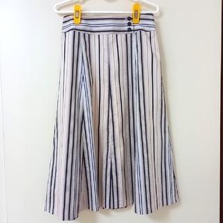 エルプラネット(ELLE PLANETE)のELLE PLANETE ストライプスカート(ひざ丈スカート)