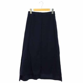 アメリカーナ(AMERICANA)のアメリカーナ AMERICANA サイドスリット スカート 台形 ロング 紺(ロングスカート)