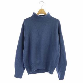 23区 - 23区 カシミヤブレンドバルキー ロールネックニット セーター 長袖 38 青