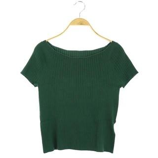 ジャスグリッティー(JUSGLITTY)のジャスグリッティー オフショルダーワイドリブプルオーバー ニット 半袖 2 緑(ニット/セーター)