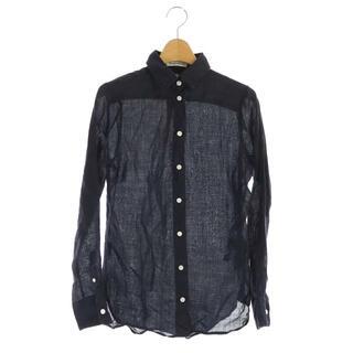 マディソンブルー(MADISONBLUE)のマディソンブルー 18AW リネンシャツ 長袖 00 紺 ネイビー(シャツ/ブラウス(長袖/七分))
