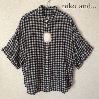 ニコアンド(niko and...)のギンガムチェックブラウス(シャツ/ブラウス(半袖/袖なし))