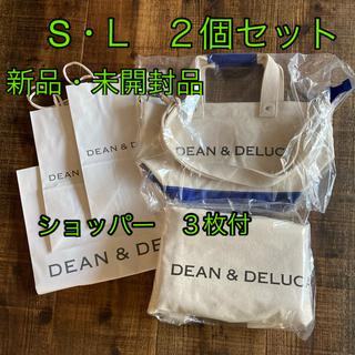 ディーンアンドデルーカ(DEAN & DELUCA)のDEAN&DELUCA キャンバストートバッグ S・Lサイズ 2個セット(トートバッグ)