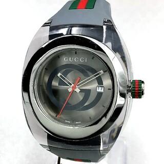 グッチ(Gucci)の新品・シリーズ 人気!GUCCI WATCH SYNC☆グッチ腕時計グレー色(ラバーベルト)