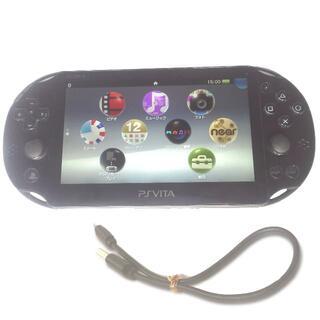 プレイステーションヴィータ(PlayStation Vita)の【送料無料】PlayStation®Vita ブラック PCH2000 WiFi(携帯用ゲーム機本体)