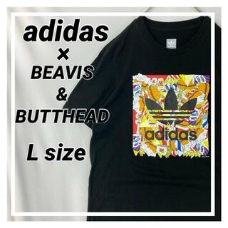アディダス(adidas)の【限定コラボ】アディダス Tシャツ BEAVIS&BUTTHEAD Lサイズ(Tシャツ/カットソー(半袖/袖なし))