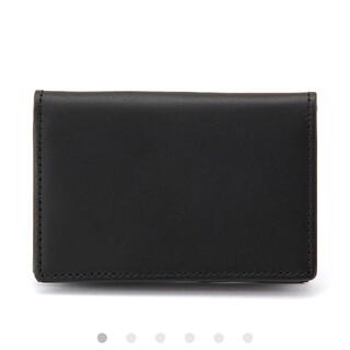 ムジルシリョウヒン(MUJI (無印良品))の無印良品 イタリア産ヌメ革 カードケース黒(名刺入れ/定期入れ)