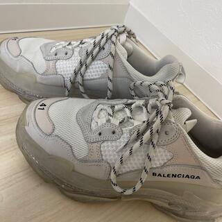 バレンシアガ(Balenciaga)のBALENCIAGA トリプルs(ホワイト41)(スニーカー)