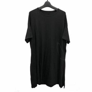 ヨウジヤマモト(Yohji Yamamoto)のヨウジヤマモト プリュスノアール 顔料プリントTシャツワンピース(Tシャツ(半袖/袖なし))