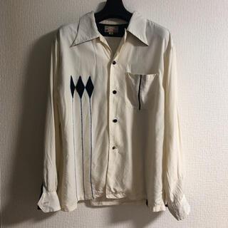 Dry Bones ドライボーンズ バック刺繍入り レーヨン 長袖シャツ(シャツ)