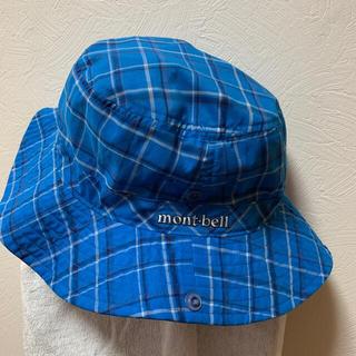 モンベル(mont bell)のmont-bell、チェックの帽子(ハット)