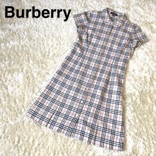 バーバリー(BURBERRY)のBurberry 半袖ワンピース バーバリー ノバチェック シャツワンピース(ひざ丈ワンピース)