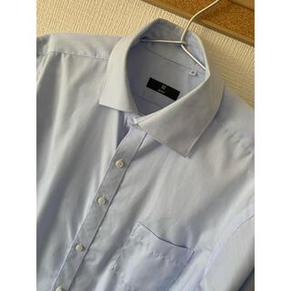 THE SUIT COMPANY - 【SKINNY】ワイドカラードレスワイシャツ/ブルー×ソリッド