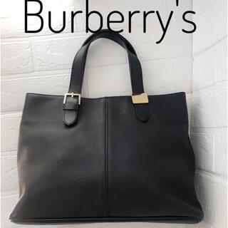 バーバリー(BURBERRY)のBURBERRY バーバリー レザーバッグ ノバチェック バッグ(トートバッグ)
