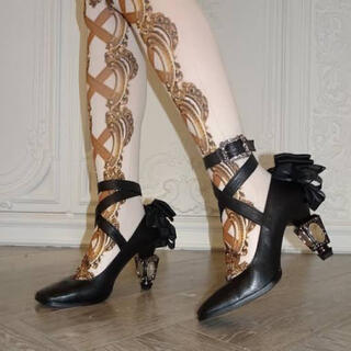 BABY,THE STARS SHINE BRIGHT - juliette et justine 鏡の靴 パ ドゥ ゼッド 黒Mサイズ