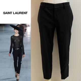 サンローラン(Saint Laurent)のSAINT LAURENT 2018SS アンソニー期 裾ジップスラックスパンツ(クロップドパンツ)