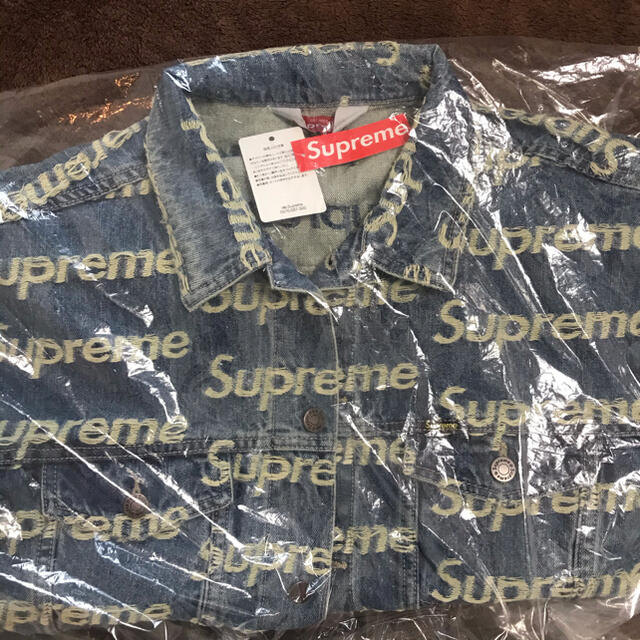 Supreme(シュプリーム)の 希少サイズXL★supreme  frayed logos denim  メンズのジャケット/アウター(Gジャン/デニムジャケット)の商品写真