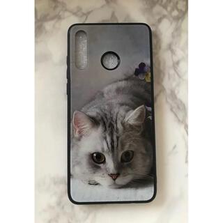 ファーウェイ(HUAWEI)の可愛いねこちゃん☆背面9Hガラスケース HUAWEI P30Lite 萌猫(Androidケース)