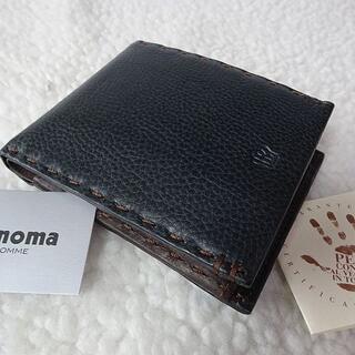 レノマ(RENOMA)の【新品/本物】renoma(レノマ)二つ折財布/紺  ¥11,000(折り財布)