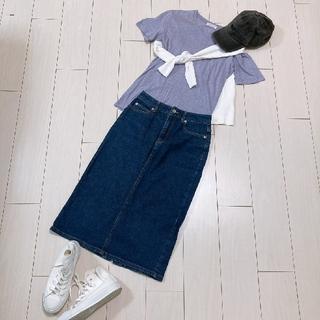 Plage - 大人カジュアルデニムスカートコーデ♡プラージュカーディガンカットソー