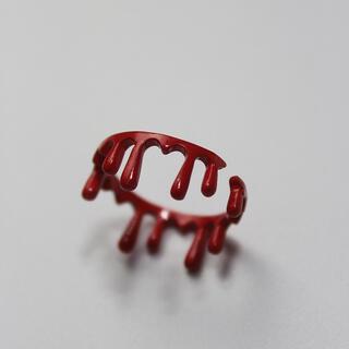 Q-pot. - 血垂れ 金属 赤リング ゴシック やみかわ  量産系 地雷系 原宿
