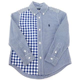ラルフローレン(Ralph Lauren)のRALPH LAUREN ボタンダウンシャツ ギンガムチェック 3T 青 ブルー(その他)