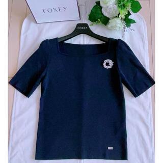 フォクシー(FOXEY)のFOXEY  Elegant Square ニットトップス38 極美品 Rene(ニット/セーター)