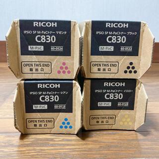 リコー(RICOH)のRICHO  リコー IPSiO SP M-PaCトナー C830 4色セット(OA機器)