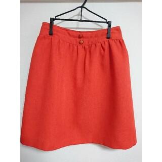 プーラフリーム(pour la frime)のプーラフリーム オレンジ スカート M(ひざ丈スカート)