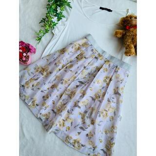 MISCH MASCH - ミッシュマッシュのサラサラ花柄スカート