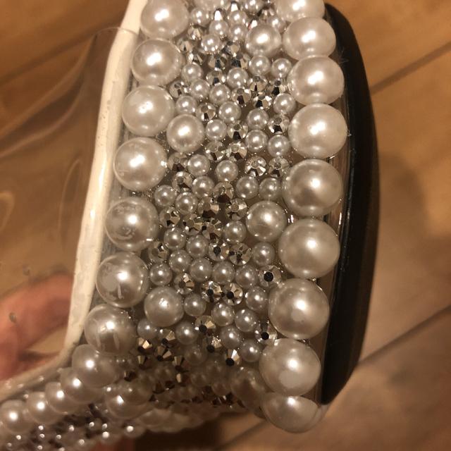 JEWELS(ジュエルズ)のパールビジュークリアサンダル レディースの靴/シューズ(サンダル)の商品写真