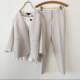 theory - Theory / ノーカラー ジャケット パンツ ブラウス セットアップ スーツ