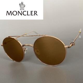 モンクレール(MONCLER)のモンクレール ゴールド ミラー ラウンド サングラス アンチルージング 金(サングラス/メガネ)