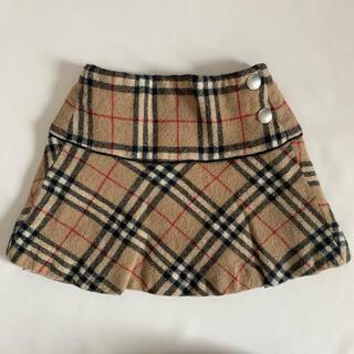 バーバリー(BURBERRY)のBurberry バーバリー 90cm ノバチェック柄ウールスカート(スカート)
