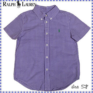 Ralph Lauren - ラルフローレン 半袖ボタンダウンシャツ チェック 5才