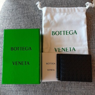 ボッテガヴェネタ(Bottega Veneta)のボッデガ ヴェネタ BOTTEGA VENETA 二つ折り財布 ブラック(折り財布)