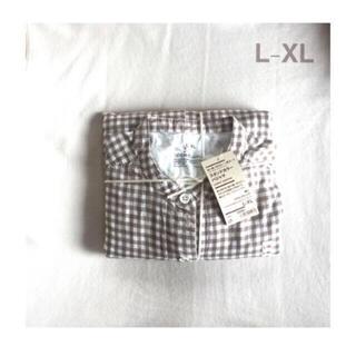 ムジルシリョウヒン(MUJI (無印良品))の無印良品   脇に縫い目のない 二重ガーゼスタンドカラーパジャマ  婦人L-XL(パジャマ)