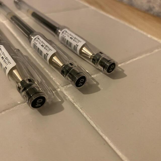 HI-TEC(ハイテック)のHI-TEC-C  0.4 黒 3本セット インテリア/住まい/日用品の文房具(ペン/マーカー)の商品写真