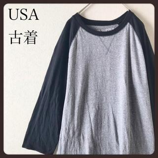 【 USA古着】MOSSIMO SUPPLY CO  ラグラン 七分袖   M(Tシャツ/カットソー(七分/長袖))