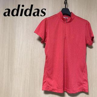 adidas - 美品 adidas GOLF アディダス レディース ポロシャツ L 半袖 赤
