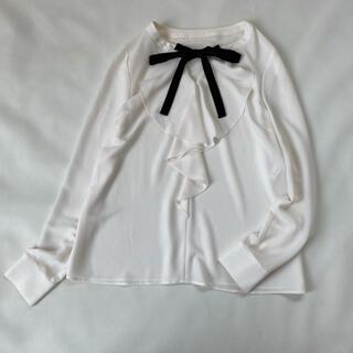 ANAYI - 美品✨アナイ ブラウス フリル リボン 日本製 長袖 ボウタイ シャツ