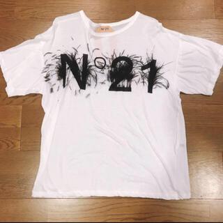ヌメロヴェントゥーノ(N°21)のN°21 フェザーTシャツ(Tシャツ(半袖/袖なし))