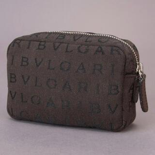 BVLGARI - 新品未使用 BVLGARI ブルガリ ロゴマニア ポーチ ジャガード ブラウン
