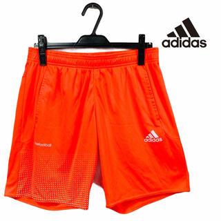 adidas - 【超美品】adidas アディダス ハーフパンツ サカパン フットサル オレンジ