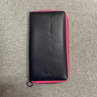 ラファ パスポートケース? 紺色×ピンク(旅行用品)