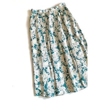 ロペ(ROPE)のadam et rope' フラワープリントスカート 日本製(ひざ丈スカート)