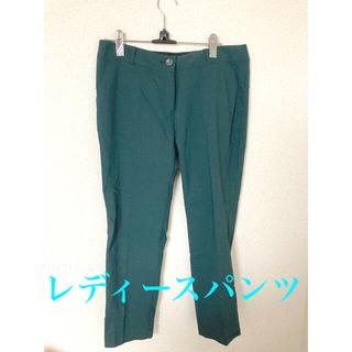 レディース パンツ グリーン Mサイズ 緑(カジュアルパンツ)