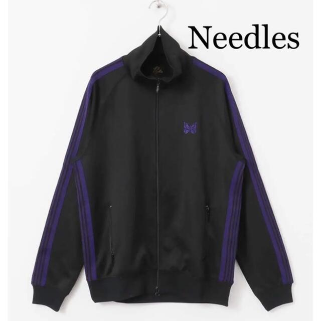 Needles(ニードルス)のNeedles トラックジャケット黒×紫 18AW 美品 メンズのトップス(ジャージ)の商品写真