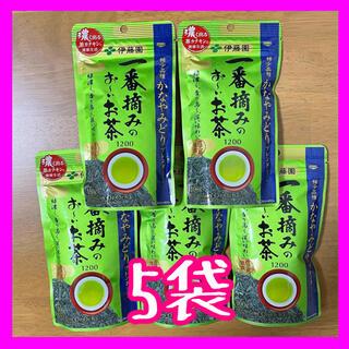 イトウエン(伊藤園)の伊藤園 一番摘みのおーいお茶 1200 かなやみどりブレンド <5袋>(茶)